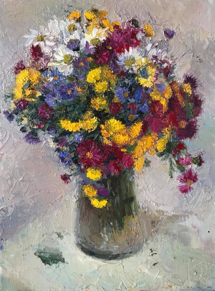 Квіти з вернісажу 2017 , 40х30 см Flowers from vernissage