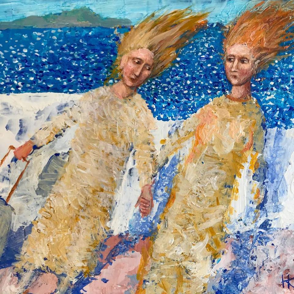 Isola di Ischia 2018 acrilic wooden panel 18x22 cm