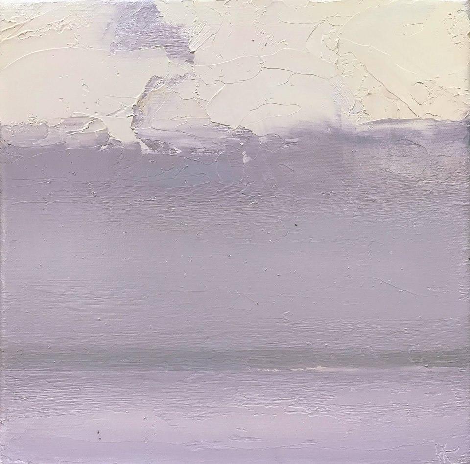 Above the sea, над морем 2018, oil сanvas, 20x20 cm