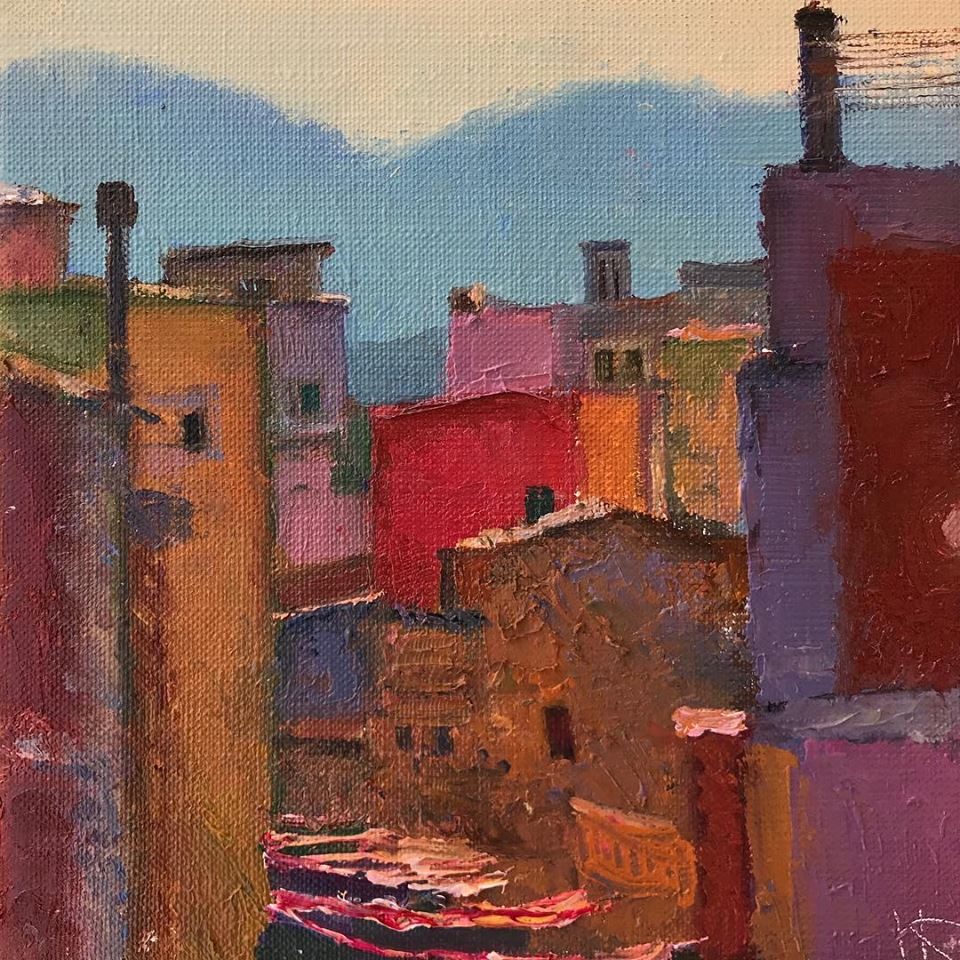 The street, 2018, canvas oil, 20x20